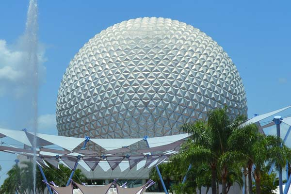 Spaceship Earth at Epcot Center in Disney World